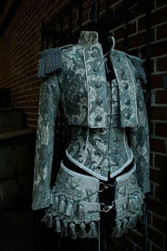 SHRINE GOTHIC GREEN IVORY TOREADOR JACKET PIRATE VICTORIAN STEAMPUNK TAPESTRY…