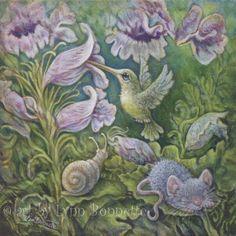Purple Flower Garden by Lynn Bonnette