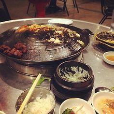 Ah, the joys of a filling meal. {Rise filter} (at Honey Pig Gooldaegee Korean Grill) April Photo Challenge, Korean Grill, Filter, Honey, Meals, Desserts, Fun, Tailgate Desserts, Deserts