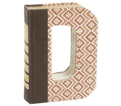This unique décor piece makes sure that no book gets thrown away. Made from recycled books, these personalized letter cutouts will look great on a bookshelf, nightstand, or dresser. And since each letter is made from a recycled novel, every piece is one of a kind.