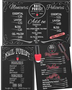 Nail Salon Sign Beauty Salon Sign Custom by CustomPrintablesNY
