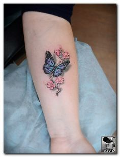 Tattoo Sergey Batalichev - tattoo's photo In the style Realistic, Female, Butterflies, Saku (341164)