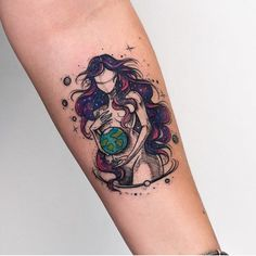 Beautiful Mother Earth Tattoo