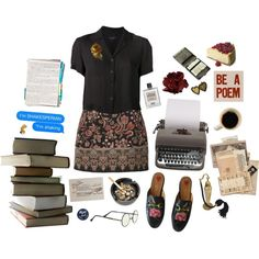 english major by unwriteable on Polyvore featuring polyvore, rag & bone, Valentino, Gucci, Steidl, fashion, style and clothing