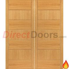 JB Kind Brisa Sirocco Flush Oak Veneered Fire Door Pair, Pre-finished, 30 Minute Fire Rated  #oakdoublefiredoors