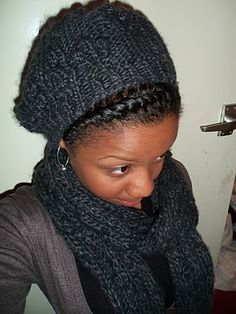 My Kink and Curls: Flat Twist Beanie Hair Style
