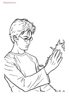 Harry Potter coloring page24 source maatjescoloringpagescom