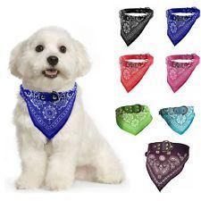 Ajustable Mascota Perro Cachorro Gato Bufanda de cuello Bandana Con Collar De Cuero Pañuelo para el cuello