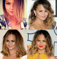 "another kind of beauty blog: Long Bob ""Lob"" inspired by Chrissy Teigen + short Ombre 