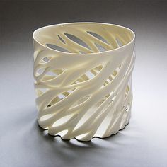 Cut cup - this is slab, I assume, but it could be fun to do this with a pinch pot too