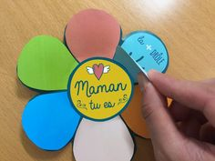Ma carte à construire pour la fête des mères - Blog Hop'Toys Rose Trees, Mothers Day Crafts For Kids, Recycled Crafts, At Home Workouts, Diy Projects, Messages, Activities, Gifts, Parents