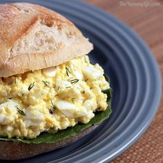 Healthy Egg Salad using Greek yogurt. From TheYummyLife.com