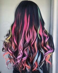 104 pastel and also hidden rainbow hair color ideas- 104 Pastell und auch versteckte Regenbogen-Haarfarbe-Ideen 104 pastel and also hidden rainbow hair color ideas - Cute Hair Colors, Pretty Hair Color, Beautiful Hair Color, Hair Color Purple, Hair Dye Colors, Rainbow Hair Colors, Pastel Rainbow Hair, Neon Hair, Crazy Color Hair Dye