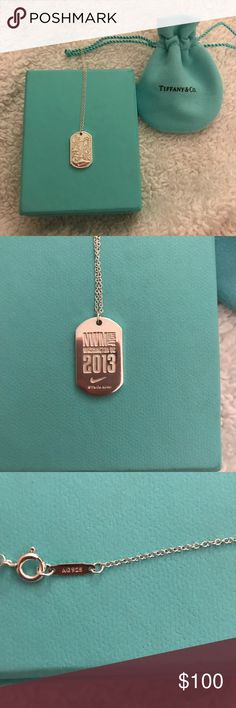 Tiffany & Co. Nike Womens Marathon Necklace 100% authentic, in like new condition. This necklace was only available to Nike race participants in DC in 2013. Length is 16 in. No flaws, freshly polished. Tiffany & Co. Jewelry Necklaces