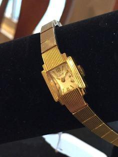 Vintage Kelbert 14K Gold Women's Watch - Deco Style #Kelbert