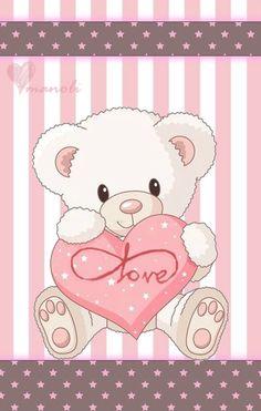 Cute Baby Girl Clip Art Cute Teddy Bear Vector