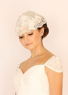 French inspired bridal headpieces
