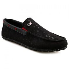 Simple Suede and Splicing Design Men's Casual Shoes