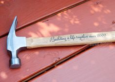 Engraved Hammer Personalized with Name, Monogram, or personal message of your choice 16oz  father's day valentine's best man gifts for guys by MarkedMoments on Etsy https://www.etsy.com/listing/203084379/engraved-hammer-personalized-with-name