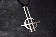 Ghost band Grucifix Ghost bc Papa Emeritus Nameless Ghoul Necklace Pendant logo symbol choker talisman sign emblem satan sigil by JewerlyMerch90 on Etsy