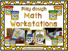 Play dough Math Workstations  are an excellent resource to help students with number recognition 1-10, and shape recognition. Consists in 3 different Workstations:-How many flowers? Students make little play dough balls to match the  numbers.-How many cookies in the cookie jar?