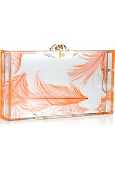 Charlotte Olympia   Pandora feather Perspex box clutch €600