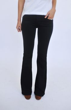 Black Flared Denim - Dottie Couture Boutique