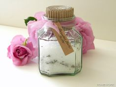 Lavender Bath Salts and Potpourri recipe from Carolyn's Homework blog.  http://carolynshomework.blogspot.com/2012/04/dirt-lavender.html