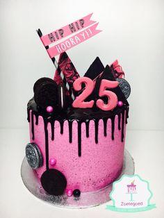 25 Birthday Pink Drip Cake! 25th Birthday Cakes, 25 Birthday, Birthday Parties, Drip Cakes, How To Make Cake, Cake Ideas, Birthdays, Parenting, Cupcakes