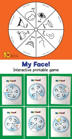 My Face – Printable Game