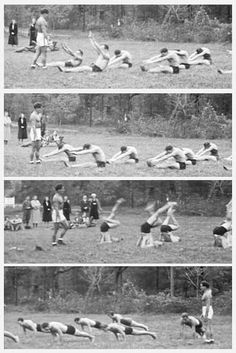 Pilates camp with Joseph Pilates. #pilates #history Repinned by Tempo Pilates, www.tempopilates.com