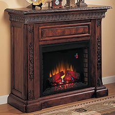 Twin Star Media Mantel Fireplace with Infrared Quartz Heater - And ...