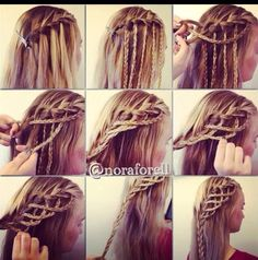Cute Hair Style Idea! Great Way To Pull Back Bangs!