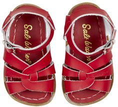 Saltwater Sandals, just got my berk some of these! can wait to see her little feet in them:)