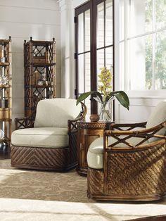 Bali Hai Diamond Cove Swivel Chair | Lexington Home Brands