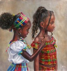 Love this! Black hair on little African American Girls, very cute natural…