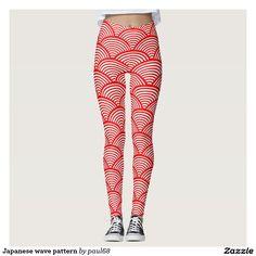 Japanese wave pattern leggings