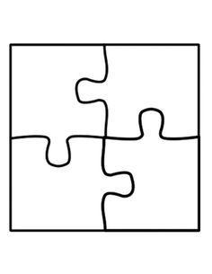 Puzzle Template Four Piece Jigsaw