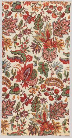 heaveninawildflower:  Textile (late 18th century)block printed. Cooper–Hewitt, National Design Museum rwHQQKTKU8Jihg at Google Cultural Ins...