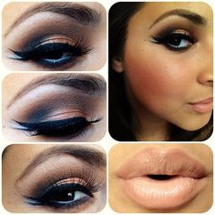 Play up eyes neutral lip!