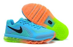 low priced 60514 090c6 Cheap Nike Air Max 2014 Kids SkyBlue Black Orange Kids Shoes For Wholesale