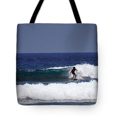 Tote Bags - Perfect Wave for the Ride Tote Bag by Pamela Walton
