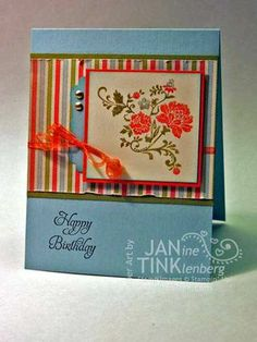 Love it when I find a card and have the stamp set !! <3