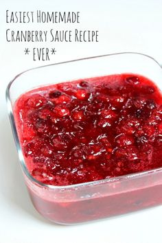 Easiest Homemade Cranberry Sauce Recipe Ever - RecipeGirl.com