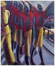 Gerard Sekoto, 'Prison Yard' (1944)