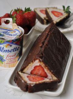 Sernik bez pieczenia z truskawkami - Damsko-męskie spojrzenie na kuchnię Something Sweet, No Bake Desserts, French Toast, Cheesecake, Fruit, Breakfast, Puddings, Enchanted, Foods