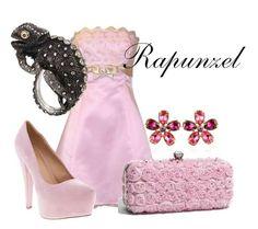 Princess Rapunzel from Disney's Tangled fashionable attire
