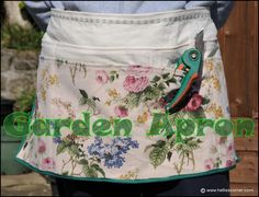How to make your own Garden Apron - sewing tutorial | Hellie's Corner
