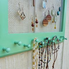 I could use this..... Cottage Chic Distressed Jewelry Organizer by oakstudiosofdesign, $37.00