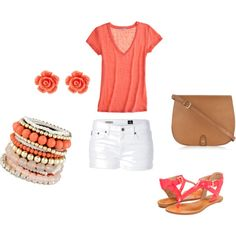 Coral!, created by megankempf2 on Polyvore